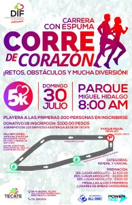 """Todo listo para la carrera """"Corre de Corazón""""."""