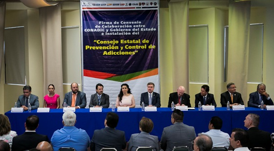 Firma Gobernador Francisco Vega convenio de colaboración con la Comisión Nacional contra las adicciones
