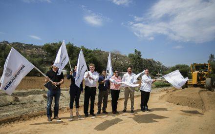 Inicia construcción de puente en la colonia el Rincón Tecate