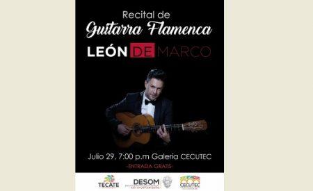 Habrá presentación de guitarra flamenca en el CECUTEC