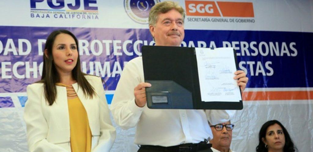 Toma protesta Gobernador Francisco Vega aIntegrantes de la Unidad De Protección De Personas Defensoras de Derechos Humanos y Periodistas