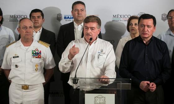 Pendiente Gobernador Francisco Vega de la visita del Secretario de Gobernación Osorio Chong a Baja California