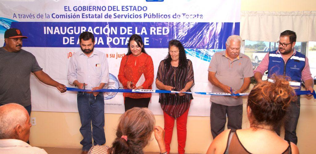Inauguran línea de conducción de agua en Jardines del Rincón