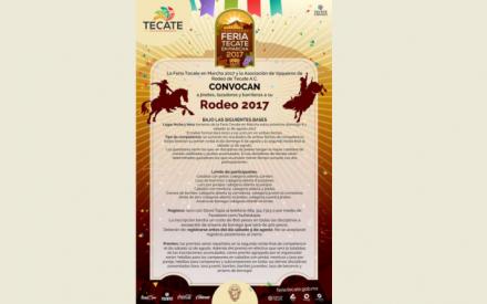 Convocan a participar en el Rodeo de la Feria Tecate en Marcha 2017