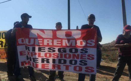 Tecatenses en contra de gasera a las afueras del municipio