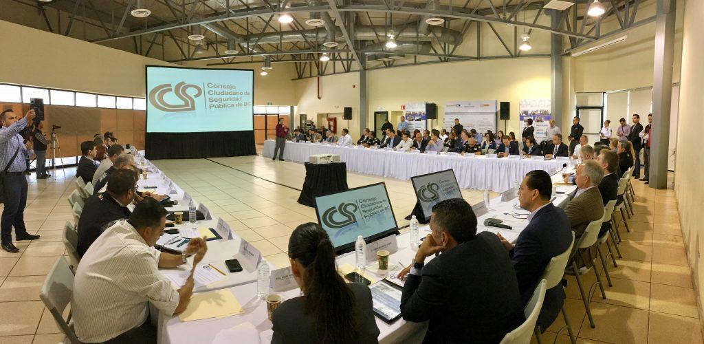 Expone CCSPBC problemática de seguridad y plan de trabajo al gobernador de BC
