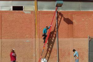 Modernizan alumbrado en la Unidad Deportiva Eufrasio Santana