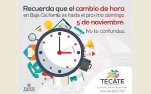 El 5 de noviembre cambia el horario en Baja California