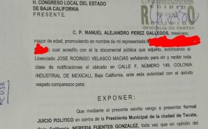 Promueven juicio político contra alcaldesa de #Tecate