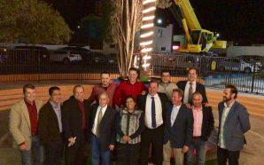 Develan estatua de Diana La Cazadora en Tecate