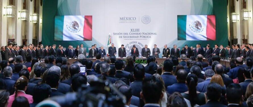 Participa Gobernador Francisco Vega en Reunión del Consejo Nacional de Seguridad Pública