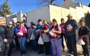 Seguridad ciudadana de Tecate entrega cenas navideñas