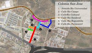 Aprueban nomenclaturas en la colonia San José