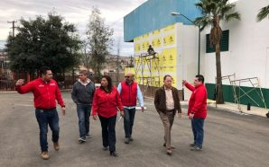 Supervisan obra de rehabilitación en el Gimnasio Municipal