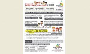 Dará inicio nuevo ciclo del Programa de activación comunitaria 2018