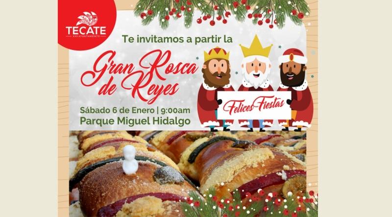 Gobierno Municipal invita a la tradicional Rosca de Reyes