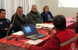 Ante la posible llegada de tormenta invernal, Protección Civil deTecate coordina acciones