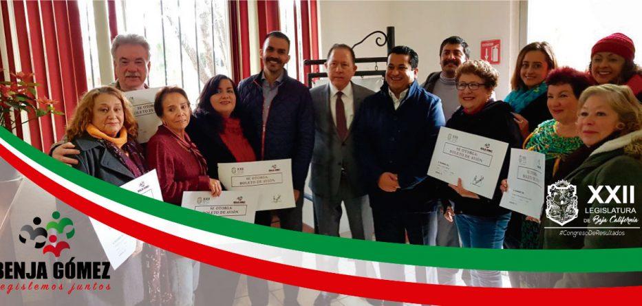 Grupo tecatense de Danza Folklórica Mixtli recibe apoyo del Diputado Benjamín Gómez para representar a B.C. en concurso a nivel nacional
