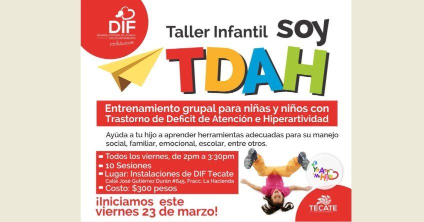 Ofrecerá DIF Tecate taller a niñas y niños con TDAH