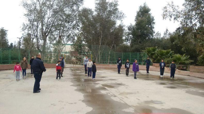 Policía Juvenil promueve la educación cívica y convivencia social entre la niñez tecatense