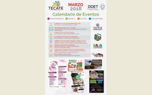 Dirección de Desarrollo Económico y Turismo de Tecate presentacalendario de actividades durante el mes de marzo