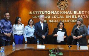 Notifican al Consejo Local del INE candidatos a senadores del PANBC su registro