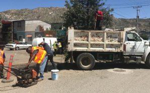 Se mantienen los trabajos de rehabilitación de vialidades en San…