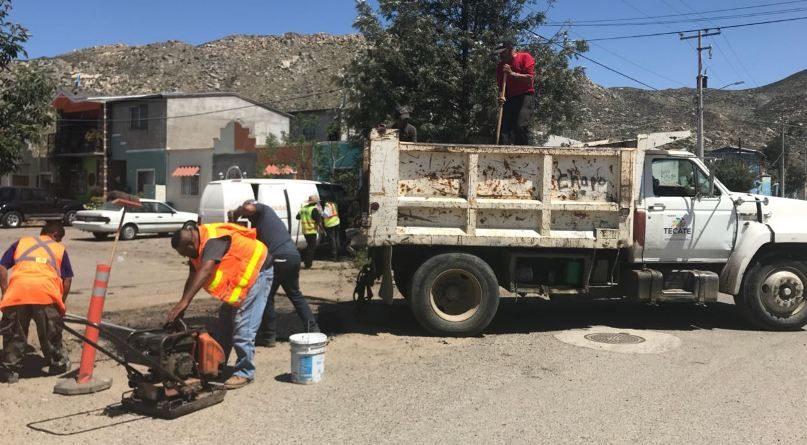 Se mantienen los trabajos de rehabilitación de vialidades en San Pablo