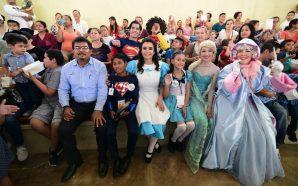Encabezan niña presidenta y niño director de DIF Baja California los festejos del día del niño