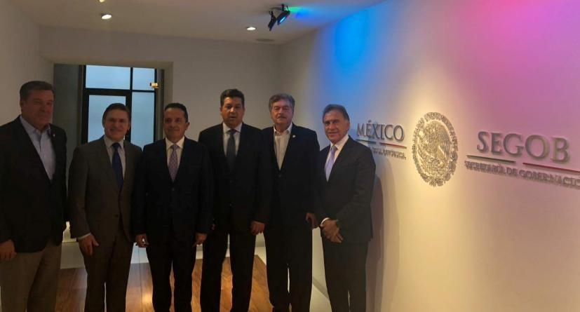 Se reúne Gobernador Francisco Vega con Secretario de Gobernación Alfonso Navarrete Prida