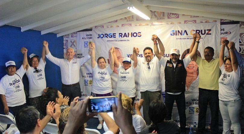 Ex líderes priístas se suman a la Coalición por México al Frente