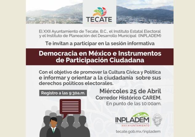 Impartirán taller de cultura cívica y política al público en general