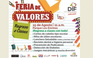 Anuncia DIF Tecate Feria de Valores de regreso a clases