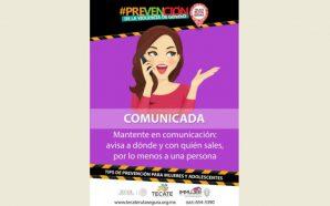 Gobierno Municipal brinda recomendaciones para prevención de la mujeren Tecate
