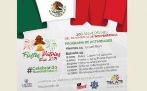 Gobierno Municipal de Tecate presenta programa de las Fiestas patrias 2018