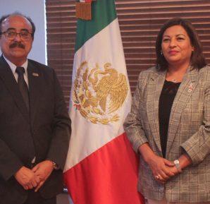Alcaldesa Nereida Fuentes sostiene reunión con Consejero Presidente del IEEBC