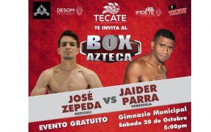 Próximo sábado en Tecate habrá función de Box Azteca; Entrada…