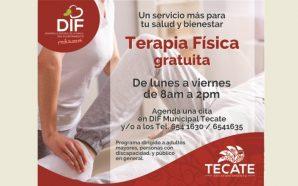 Ofrece DIF Tecate Terapias Físicas gratuitas