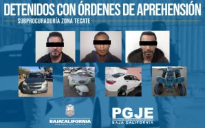 Aprehende la Policía Ministerial del Estado en Tecate a tres…