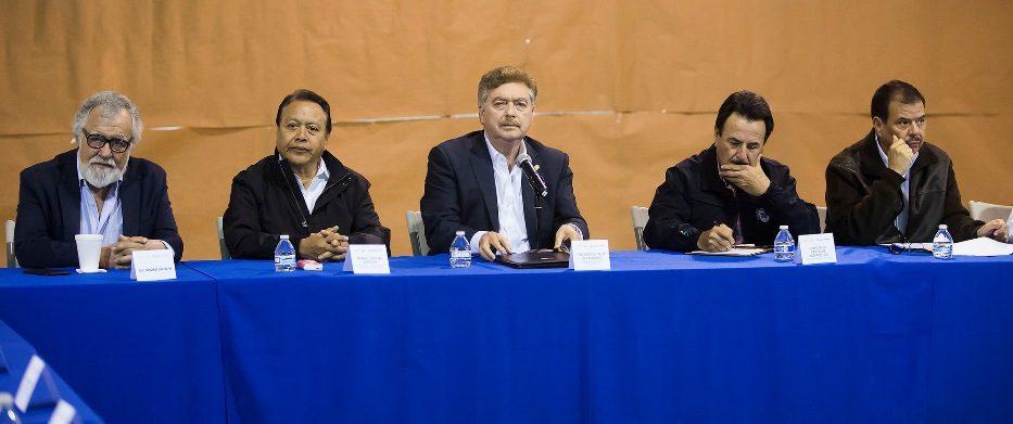 """Dan seguimiento autoridades a los acuerdos pactados en la mesa interinstitucional para atención a la """"Caravana Migrante"""""""