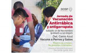 Gobierno Municipal realizará Jornada de Vacunación Antirrábica y deAntigarrapata en Cerro Azul