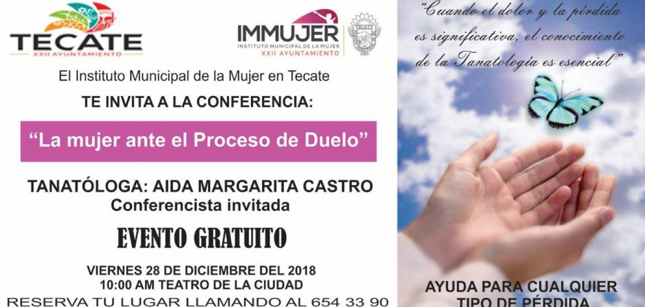 """Invitan a la conferencia """"la mujer de hoy ante el proceso de duelo"""""""