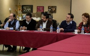 Se reúnen integrantes de JUCOPO, autoridades de gobierno y líderes…
