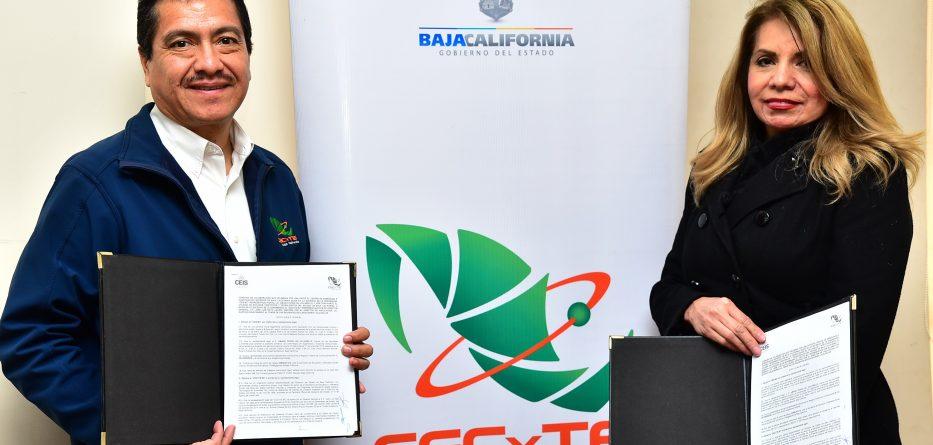 Firman CECyTE BC y CEISBC convenio de colaboración