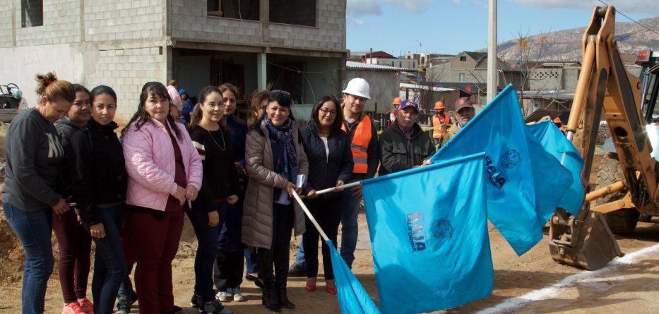 Inician obra de agua potable en zona poniente