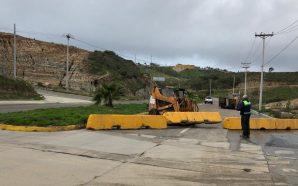 Atiende SIDUE y Ayuntamiento de Tijuana deslizamiento en segundo acceso a Playas