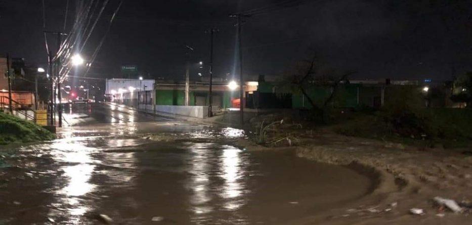 Lluvias ocasionan importantes inundaciones en Tecate