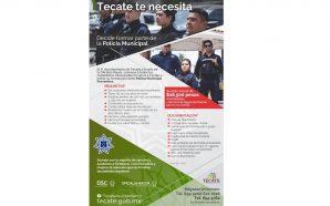Convocan a formar parte de la Policía Municipal de Tecate