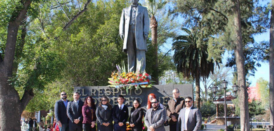 Conmemoran en Tecate el 213 Aniversario del Natalicio de Benito Juárez