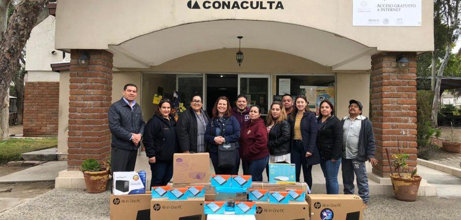 Modernizan la Biblioteca Pública de Tecate; Entregan equipos de cómputo